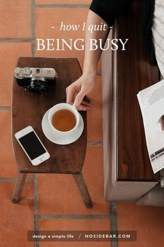 Less busy, more BEING. Your calendar is not a tool to measure your worth. Busyness feels important, but it isn't building anything lasting.