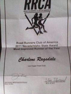 RRCA NV/ID Award - 2011