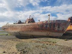 Abandoned shipsin the cemetery of boats of the port of San Antonio Oeste, Rio Negro, Argentina. ''' Barcos abandonados en el cementerio de barcos del puerto de San Antonio Oeste, Rio Negro, Argentina.