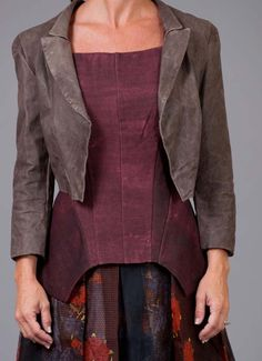 Love the cut of the top:bliss blog - i heart monday.// Gary Graham - Leather Jacket via twig