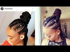 How to Jumbo Braids |Half Up Half Down| Ghana Braids| Feed-In Braids | Beginner Friendly - YouTube