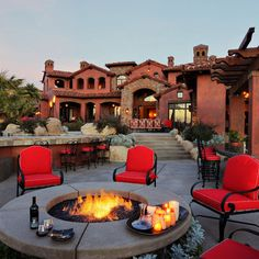 Fire Pit Outdoor Patio - Elevation Architectural Studios