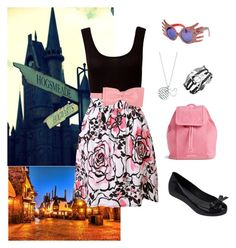 """Hogsmeade With Neville // Luna"" by societyforpromotionelvishwelfare ❤ liked on Polyvore featuring RED Valentino, Melissa, Vera Bradley, Jeffrey Campbell, Disney, women's clothing, women, female, woman and misses"
