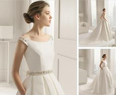 Wholesale 2015 Wedding Dresses - Buy 2015 White Wedding Dresses Ball Gown Stain Scoop Backless Sleeveless Chapel Train Belt Bead Bridal Gown Wedding Gown Custom Made New Arrival, $165.2 | DHgate.com