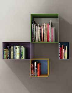 Lacquered metal wall cabinet SHAPE by Zalf @gruppoeuromobil
