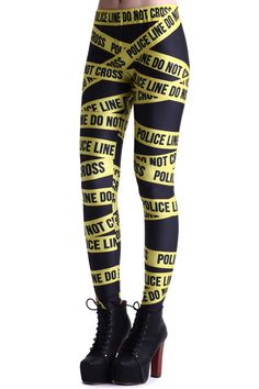 Hot Iem that will be available in our store soon!!!!! Trendy Police Line Black Leggings