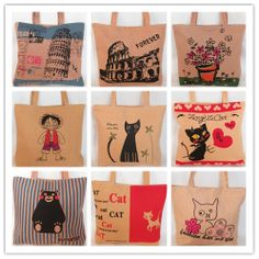 $7.50 ea Hot Selling 2014 New Brief Fashion Canvas Beach Bag Summer Women Handbags Shoulder Bag Free Shipping US $7.50