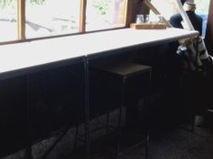 I have made these high tables for my working space.