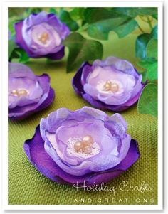 Pretty fabric flowers - DIY Tutorial