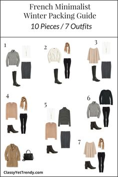 French Minimalist Winter 2017 Packing Guide Outfits