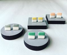 regram @aliceshieldsuk New porcelain collage studs in Coral|Grey|Mint|Yellow soon to be found on my website. #porcelain #ceramics #clay #pottery #earrings #jewellery #ceramicjewellery #studs #ss16 #summer #craft #design #modern #accessories #colour #aliceshields #craftcouncilmember #designfactorymember #bristol