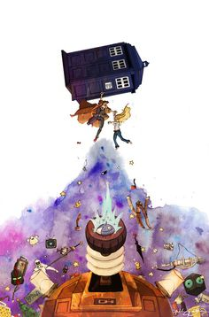 Doctor Who by Anthony Wallace. This is beautiful.