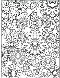 This makes me think of my old spirograph set. Flower coloring page by Jenean Morrison.