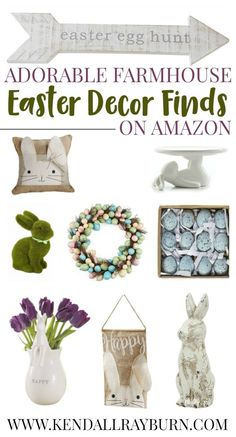 Farmhouse Easter Decor on Amazon! I am in love with ALL of these items, aren't you?! #affiliate