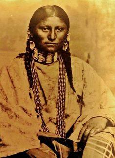 Komenêha'e (aka Komenha, aka Pure Woman) the daughter of Morning Star (aka Dull Knife) - Northern Cheyenne - circa 1880