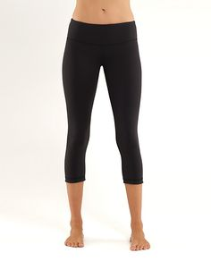 Lululemon wunder under crop pants, these are the best to lounge in, workout in and are so versatile I wear them to work as tights!