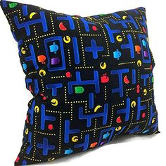 Filled Novelty Accent Throw Pillow 80's Arcade Game