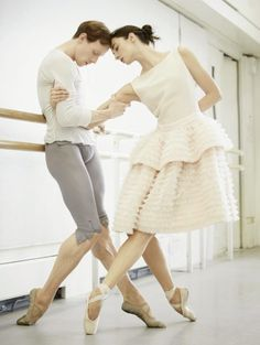 Harpers Bazaar April 2014 Poetry in Motion - The Royal Ballet's Edward Watson and Harpers Bazaar April 2014 Poetry in Motion - Edward Watson Christina Arestis (photo by Tom Allen)