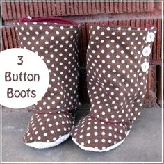 3 Button Boots: Sizes 3-18 mos.