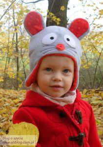 Czapka dla dziecka (szycie kropk po kroku) + opis jak przygotować wykrój