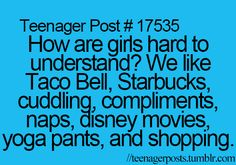 I only like 3 of these things... Complements, Disney Movies, and Shopping.