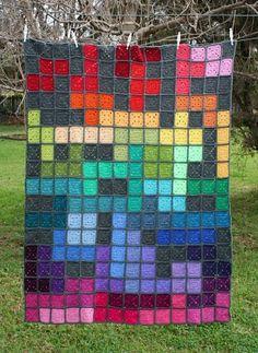 Beautiful!  Tetris Psychedelia's little squares... a shoebox of photographs: July. http://rettg.blogspot.com/2010/07/july.html