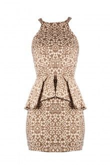 CITRINE Peplum Dress
