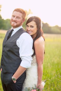 bride and groom, vest, tie, redhead, brunette, couples portrait, wedding fashion, happiness, gorgeous pair ::Jessica + Adam's private, outdoor wedding portrait photography session:: with Nikki
