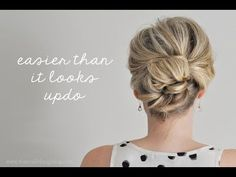 How to Do an Easy Updo - Amazing!