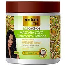 Máscara S.O.S Cachos Coco Tratamento Profundo 500g. Salon Line