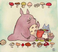 totoro picnic by ~artbrigade11 on deviantART
