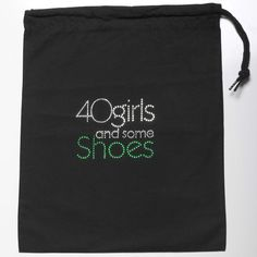 40 GIRLS AND SOME SHOES SHOE BAG GREEN