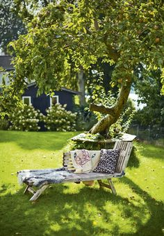 Amazing spot in the garden with comfortable garden furniture.