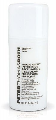 Peter Thomas Roth Mega Rich Intensive Anti-Aging Cellular Moisture Masque 3.4 oz (97 g) by Peter Thomas Roth. Save 40 Off!. $44.95. Mega Rich Intensive Anti-Aging Cellular Moisture Masque--/3.4OZ. Formulated with powerful anti-aging complex   Plus sweet almond oil aloe vera vitamins A C E  Helps smooth & soften skin  Offers moisturizing & anti-oxidant benefits  Reduces appearance of fine lines & deep wrinkles  Instantly leaves skin firmer smoother & younger looking  Suitable for norm...