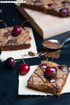 Kirsch-Espresso-Brownies #Brownies #Kirschen