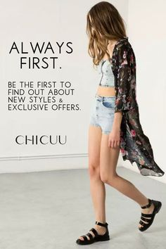 So effortlessly cool. Mix and match any way you like! Stay up to date on the latest fashion with Chicuu's newsletter and receive 30% off your first order!