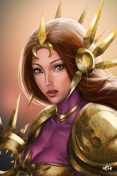 "aivablue: "" Leona fan art done:) """