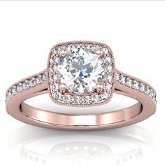 Engagement Rings White And Rose Gold Mixed 45