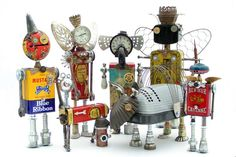 """Ifobot.com ~ the home of """"Fobots""""--Found Object Robots. Also see: http://www.pinterest.com/source/ifobot.com/ and this Pinterest Board: http://www.pinterest.com/robynfr56/random/"""