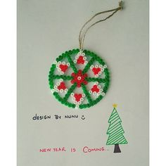 Christmas ornament hama beads by nursenturk - designbynunu