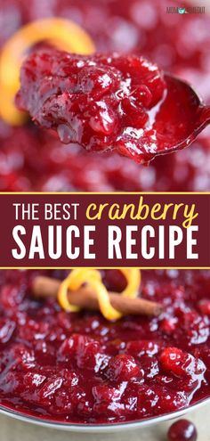 Cranberry Relish, Canned Cranberry Sauce, Whole Cranberry Sauce Recipe, Sauce Recipes, Fruit Recipes, Fall Recipes, Cooking Recipes, Simple Recipes, Sauces