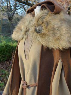 Volle Winter für Inspiration Frau Wikinger Kostüm - deckt Schultern und / oder Kleid oder cape