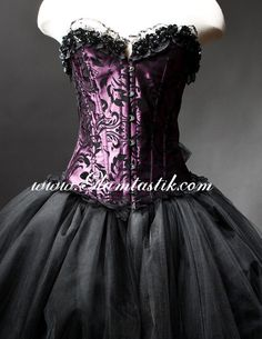 Unique Outfits, Beautiful Outfits, Cool Outfits, Beautiful Clothes, Tulle Prom Dress, Prom Dresses, Corset Dresses, Wedding Dresses, Purple Corset