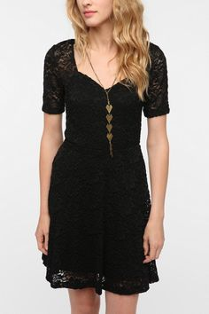 Pins and Needles Sweetheart Lace Dress  #UrbanOutfitters