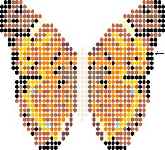 Free Printable Seed Bead Patterns | Free Sqaure Stitch Beaded Butterfly Tutorial
