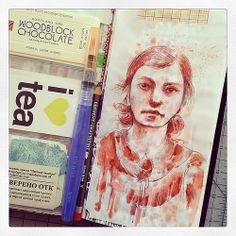 Derwent Graphitint on Clearprint paper. Midori Traveler's Notebook. | Flickr - Photo Sharing!
