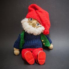 Vintage Handmade Santa Norwegian Julenisse with Backpack Christmas Scandinavian