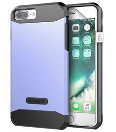 "iPhone 8 Plus Case w/ Screen Protector, Encased [Scorpio R5 Series] Dual Layer Protective Case for Apple iPhone 8 Plus 5.5"" (Periwinkle)"
