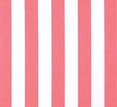 Pink Canopy Stripe Fabric - 1 yard