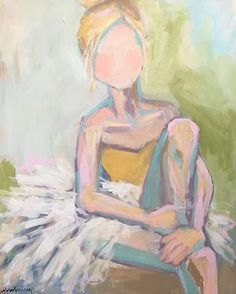 Brooke Ring is a southern artist working in Greenville, South Carolina. Brooke is known for painting colorful florals, coastal scenes, and figures. Ballet Drawings, Ballerina Painting, Acrylic Painting Inspiration, Art Impressions, Kids Room Art, Baby Art, Figure Painting, Artist At Work, Art Blog